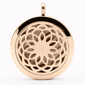 Lotus Flower Essential Oil Diffuser Locket - Blue Frog Treasures