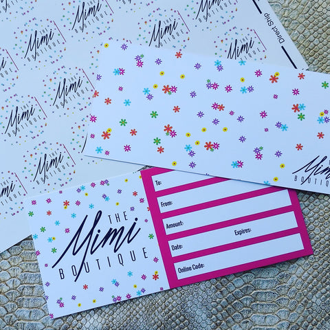 Gift Certificates - The Mimi Boutique