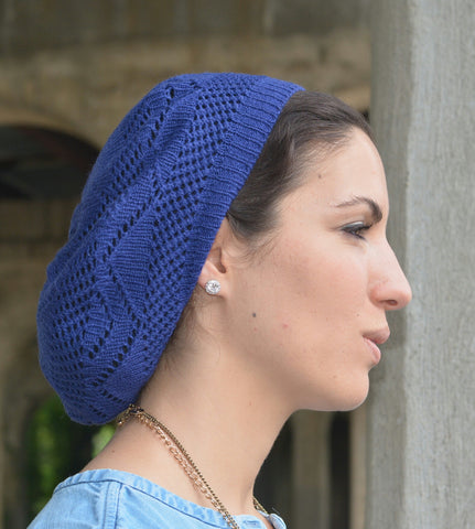 Flower Lightweight Beret - The Mimi Boutique