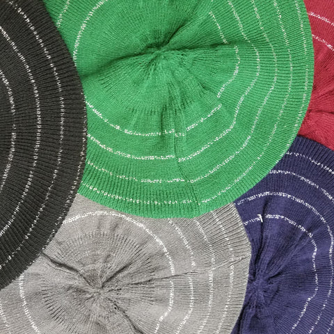 Halo Lurex Berets - The Mimi Boutique