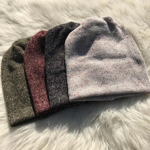 Speckled Knit Sweater Beanie - The Mimi Boutique