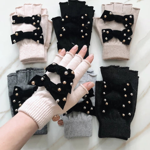 Audrey Fingerless Gloves By Valeri