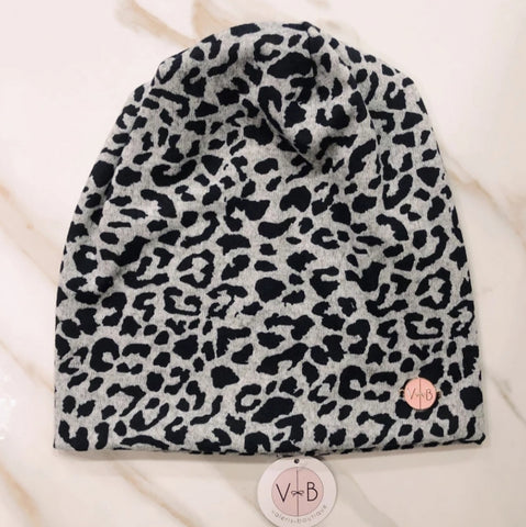 Leopard Beanie - The Mimi Boutique