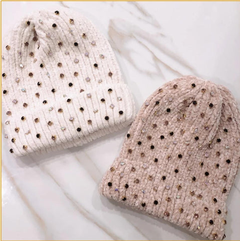 Angelina Chenille Winter Beanie - The Mimi Boutique