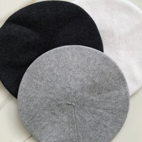 Cashmere Beret-Solid - The Mimi Boutique