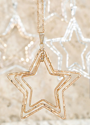 Star Pendant Long Chain Necklace - The Mimi Boutique