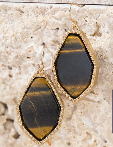 Tiger Stone Earring - The Mimi Boutique