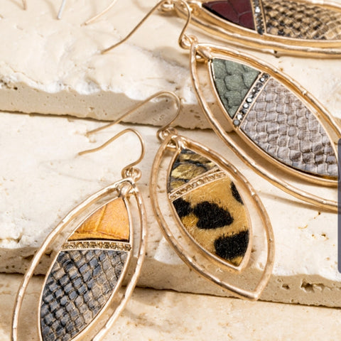 Animal Print Earrings: Multiple Colors - The Mimi Boutique