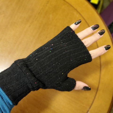 Glitter Fingerless Gloves