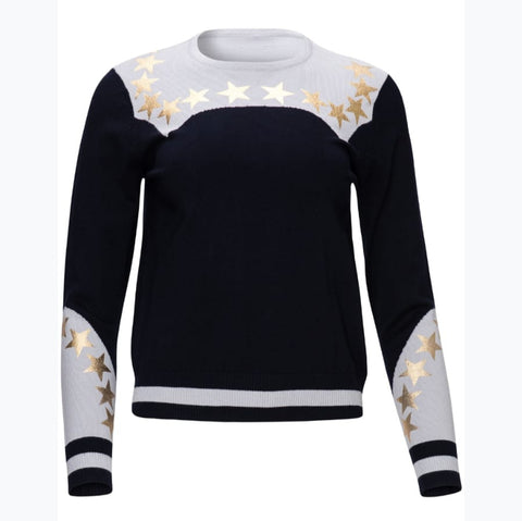 Gold Star Sweater by Yal - The Mimi Boutique