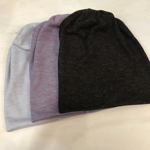 Heathered Ribbed Beanie - The Mimi Boutique