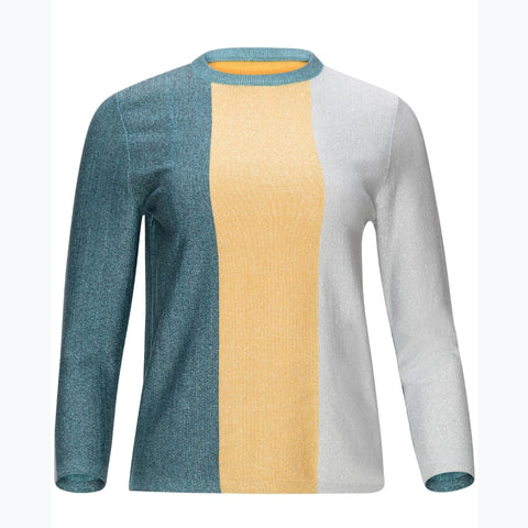 Tri Colorblock Sweater by Yal
