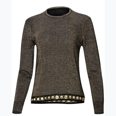Grommette Sweater by Yal: Gold - The Mimi Boutique