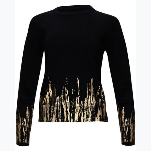 Metallic Gold Sweater by Yal