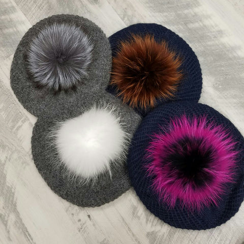 Pom Pom Beret - The Mimi Boutique
