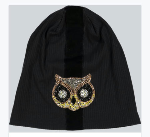Owl Ribbed Beanie - The Mimi Boutique