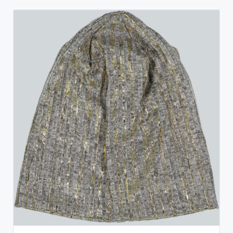 Metallic Stripe Beanie - The Mimi Boutique