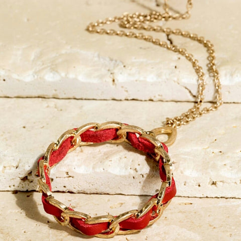 Red Circle Necklace - The Mimi Boutique