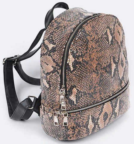 Sequin Mini Backpack: Python - The Mimi Boutique