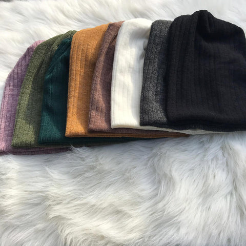 Sweater Ribbed Beanies - The Mimi Boutique