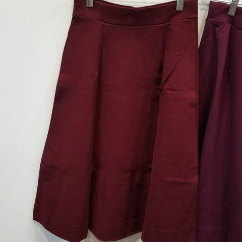Ivee Aline Skirt: Wine Red - The Mimi Boutique