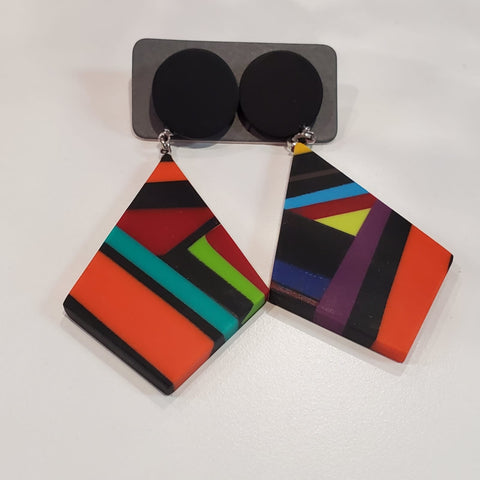 Sylca Earrings: Colorful Circles - The Mimi Boutique