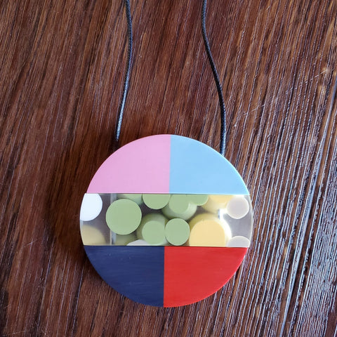 Sylca Necklace: Colorful Circle Geometric - The Mimi Boutique