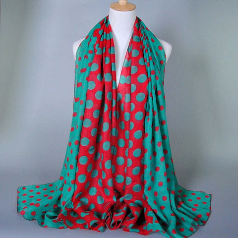 Polka Dot Oblong Scarf - The Mimi Boutique