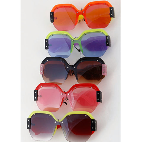 Oversized Neon Sun Glasses - The Mimi Boutique