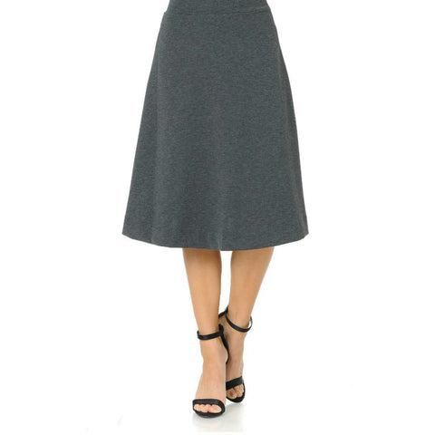 Ivee Aline Skirt: Light Heather Grey - The Mimi Boutique