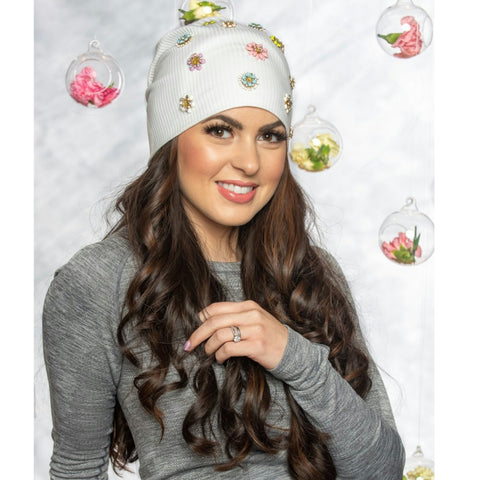Katarina Ribbed Cotton Beanie by Valeri - The Mimi Boutique