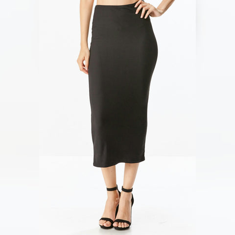 Straight Midi Skirt - The Mimi Boutique