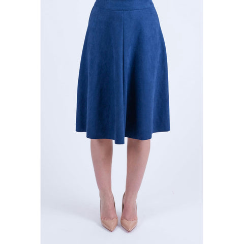 Suede Flare Skirt (2 Colors) - The Mimi Boutique