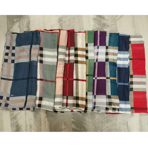 Tashtari Turkish Tichels (Open): Plaid Print