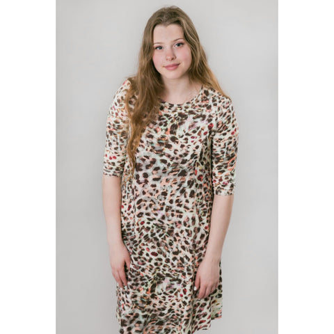 Sky Swing Dress: Colorful Leopard - The Mimi Boutique