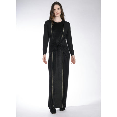 Maxi Boho Velour: Black/Gold
