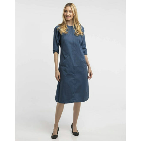 Triangle Pocket Dress: Blue - The Mimi Boutique
