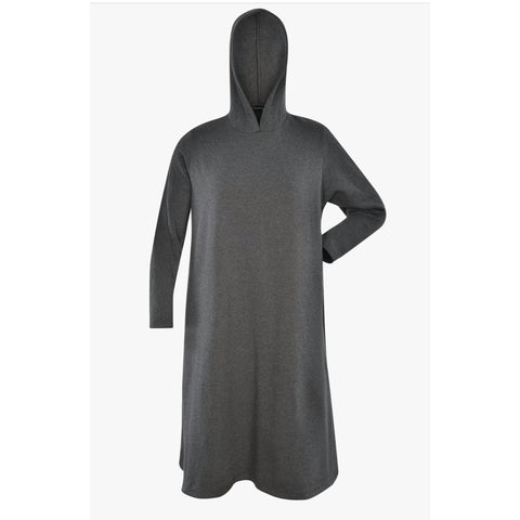 Drama Hoodie Dress: Grey - The Mimi Boutique