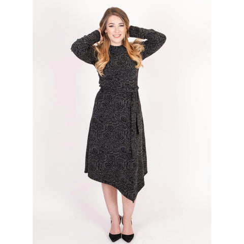 Dassy Dress: Rose Knit - The Mimi Boutique