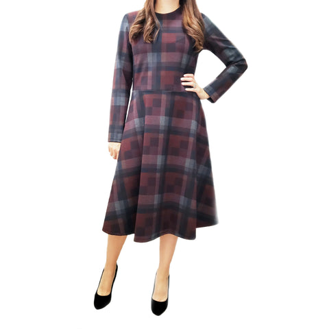 Checkered Plaid Dress by Jenny - The Mimi Boutique