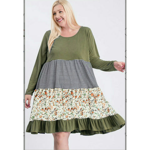 Layered Dress: Plus Size - The Mimi Boutique
