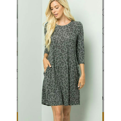 Ashley Dress: Grey/Black