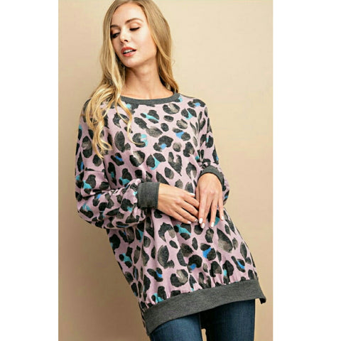 Cartoon Leopard Sweater (2 Colors)