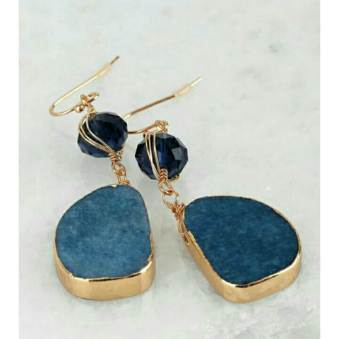 Blue Stone Earring 2.0 - The Mimi Boutique