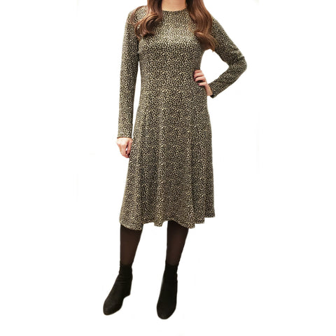 Cheeta Tunic Dress: Green