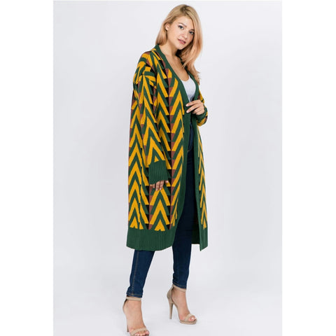 Chevron Cardigan - The Mimi Boutique