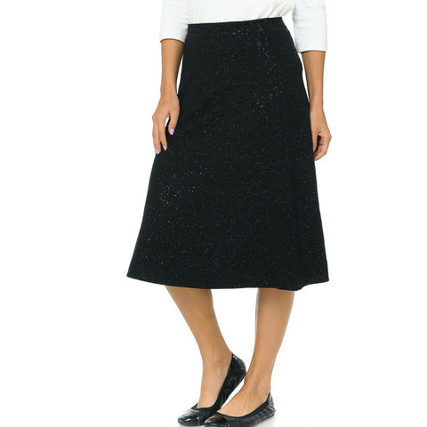 Aline Glitter Ribbed Skirt by Ivee