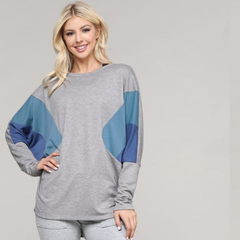Diamond  Top: Grey - The Mimi Boutique