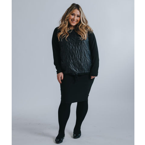 Puffer Top by Drama: Black (Plus size) - The Mimi Boutique