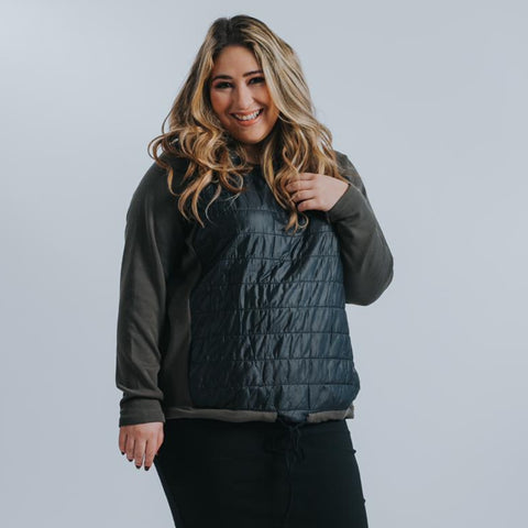 Puffer Top by Drama: Olive (Plus Size) - The Mimi Boutique